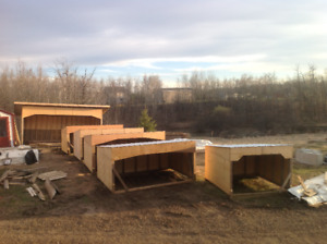 Shelters all sizes and skid steer attachments