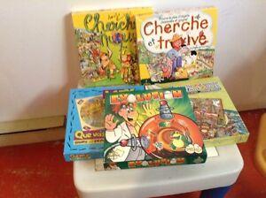 Lot de cherche et trouve et autres jeux pour enfant