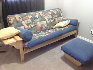 Beautiful Solid Wood Frame Futon Strathcona County Edmonton Area image 3
