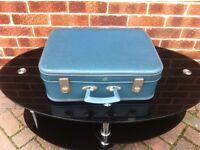 Vintage retro suitcase.