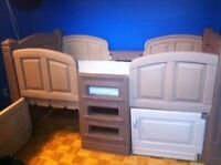 Kids plastic single bed