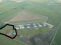 5.7 Acres Zoned as Rural Industrial at Vulcan RCAF Airport