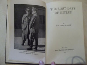Livre The last days of Hitler