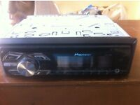 Pioneer car stereo cd, aux input