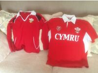 Ladies and Childs Welsh rugby tops