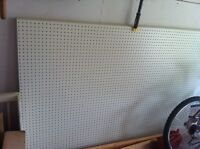 4 x 6 ft sheets of peg board