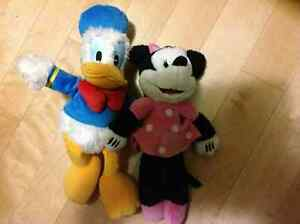 Donald Duck and Minnie Mouse from Disney world