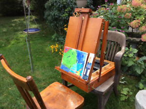 Tabletop Portable Art Easel With A Sliding Tray