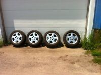5 bolt aluminum with tires