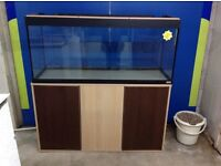 Fluval Roma 200 fish tank with stand