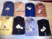 Ralph Lauren men's polo oxford smart shirt small pony long sleeves 2 for £35 cotton