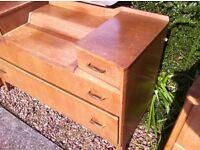 Needs TLC : gorgeous oak mirrored dresser