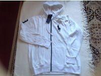 Ralph Lauren men's hoodies big pony full zipper white colour size: L. XL. £15 each