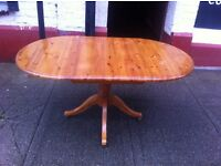 Heavy pine dining table
