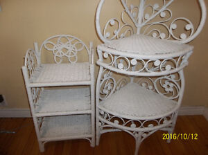 TWO WHITE WICKER STANDS St. John's Newfoundland image 1