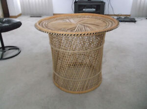 Wicker  coffee/end/display table