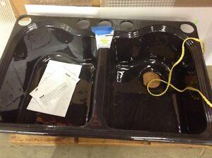 Kohler black cast iron sink
