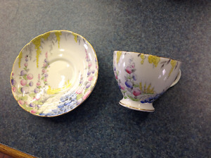 Antique Foley Bone China Tea Cup And Matching Saucer