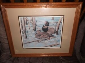 A numbered and signed print by Herbert Pikl of Ducks