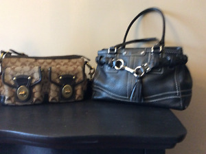 Two slightly used Coach purses