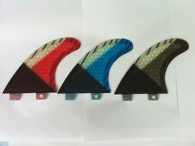 SURFBOARD FINS Honeycomb/Carbon FCS Fit Surf Fin,G5/M5 Thruster Set3 Performance core