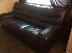 Leather 3 seater bed settee