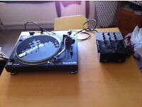 Soundlab Quartz Direct Drive Turntable and Numark DM950 Preamp Mixer