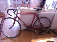 Beautiful red vintage road bike