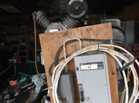 5 hp Ingersol Rand Air Comp...Canox Commercial  Stick  Welder