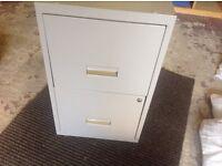 Metal Storage Cabinet - 2 drawer no key