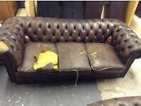 Dark drown Chesterfield sofa