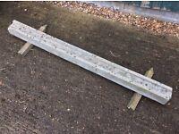 Concrete fence post 5'.