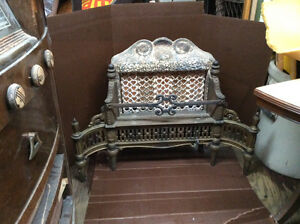 Stunning intricate antique fireplace insert
