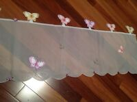 Valance with batterflies