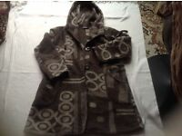 Sasah santos ladies wool coat size: 12/14 used £3