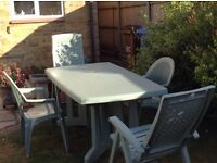 Large Garden/ patio Table and chairs
