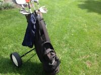 GOLF CLUBS BAG AND CART