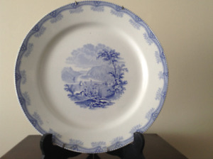 Antique Transferware Plate - American Historical