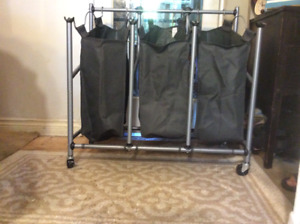 Three Removable Bag Laundry Unit