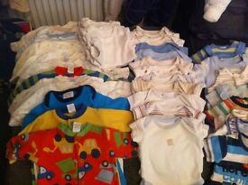New born, first size and upto 1 month baby boy clothes bundle
