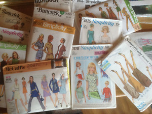 Simplicity, Butterick, McCall Sewing Patterns-Vintage