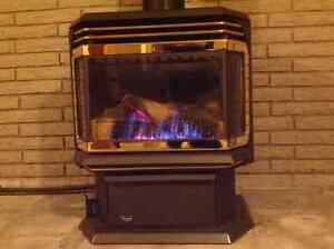 Gas stove for heating house