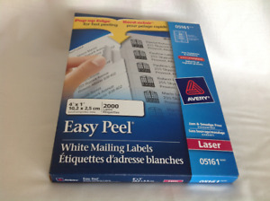 Avery Address Labels with Easy Peel for Laser Printers, White