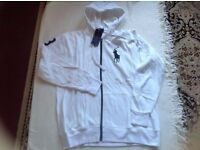 Ralph Lauren men's hoodies big pony full zipper white colour size: L. XL. £15 each
