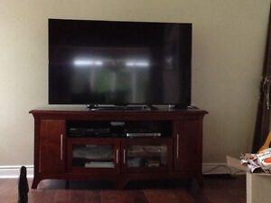 """60"""" LCD television and stand"""