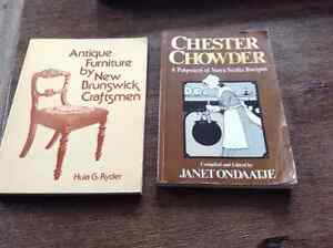 Local books. Chester Chowder and Antique Furniture by New Brunsw