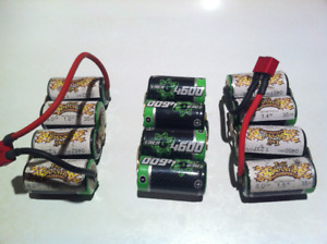 rc 1/10th NIMH battery lot for sale