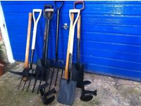 Good condition garden forks and spades as photo £10 each tool.
