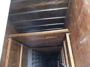 STORAGE OR MOVING TRAILER WITH UPPER FLOOR & SHELVING
