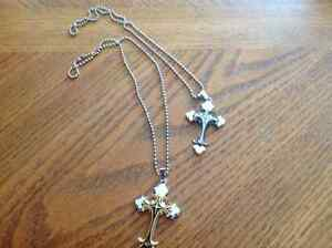 Cross on necklace